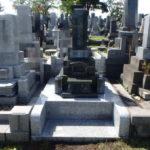 お墓の移設工事が完了しました。青森市三内霊園にて