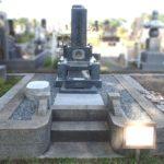 お墓の防草施工と香炉の加工等のリフォームが完成。青森市三内霊園にて