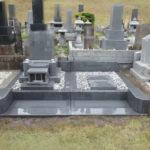 三内霊園にて灰みかげ石のお墓を施工しました