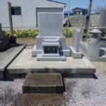 青森県北津軽郡中泊町の若宮墓地で洋型墓石が完成しました
