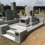 国産材真壁の新規横型の墓が完成。青森市八甲田霊園にて